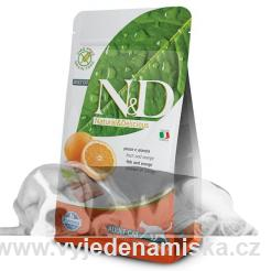 N&D Grain Free CAT Adult Fish & Orange 1,5kg