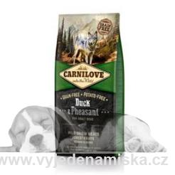 Carnilove Dog kachna a bažant Adult NEW 1,5kg